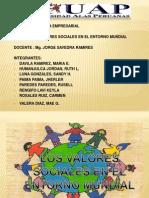 Los Valores Sociales en El Entorno Mundial