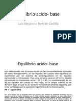 Equilibrio Acido- Base