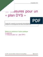 17 Mesures Pour Un Plan DYS-1