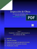 Tema 7 Controles y Tramites Administrativos de Los Contratos de Obras Completo