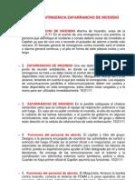 2011 Plan de Contingencia Zafarrancho de Incendio