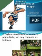 Lesiones más comunes en Rugby power point