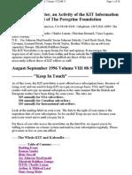 Kit Aug-sept 1996, Vol Viii #8-9 New 9-8-96