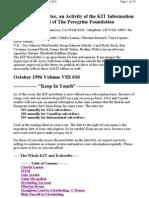KIT October 1996, Vol VIII #10 New 10-9-96