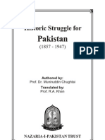 Historic Struggle for Pakistan 1857 -1947