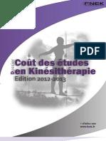 2012-2013 - Coût des études Kiné