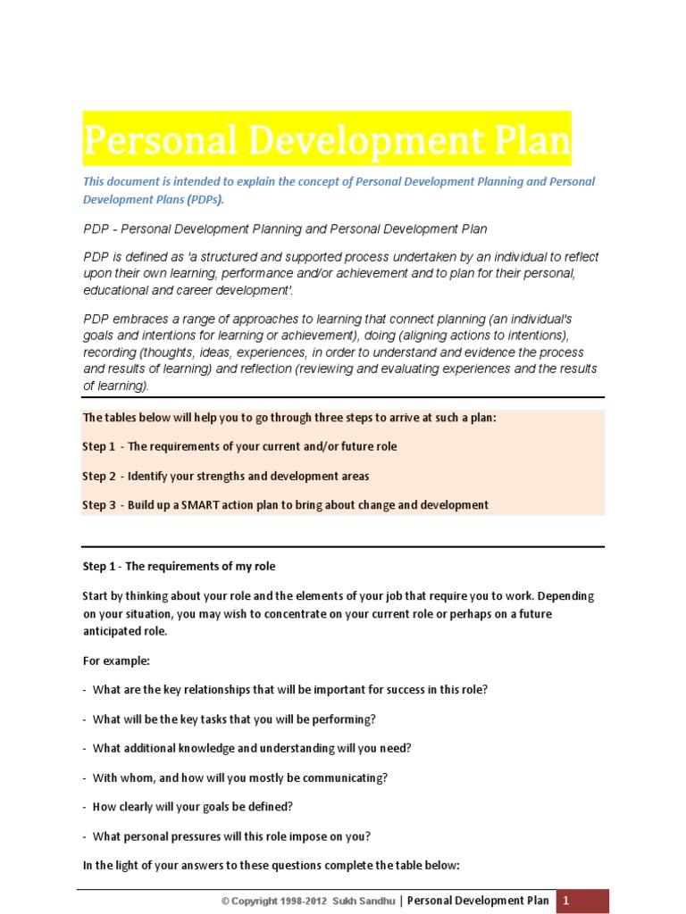 personal development plan | personal development | goal