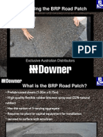 2012 April Downer - BRP Road Patch Presentation