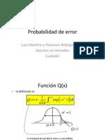 Probab de Error