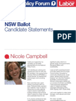 National Policy Forum - NSW candidates