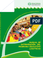 Manual de Intervencion Del Programa Educativo de Ludotecas