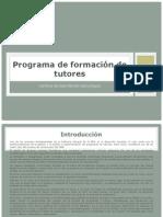 Programa de formación de tutores 1