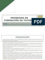 Programa de formación de Coordinadores de tutores de Zona 26 OCT 2012