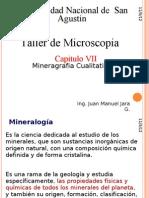 Taller de Microscopia VI Mineragrafia Cuantitativa