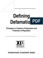 Defining Defamation