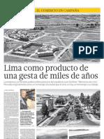 Lima como producto de una gesta de miles de años
