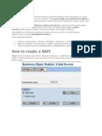 Bapi Step by Step Example