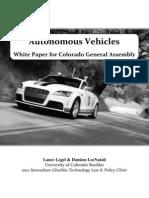 Autonomous Vehicle Policy