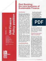 Real Banking - The Core Business of Sustainable Finance