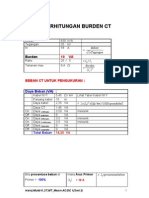 Perhitungan Burden Ct