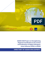 Directory of ASEAN HPAI Experts