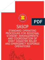 Standard Operating Procedure for Regional Standby Arrangements and Coordination of Joint Disaster Relief and Emergency Response Operations (SASOP)