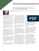 Sharon Robertson; Paralegal, North Carolina Prisoner Legal Services, Inc.; Linville Falls, NC