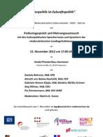 Einladung Kulturpolitik Ist Zukunftspolitik Am 12.11.2012