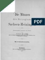 Die Münzen des Herzogtums Sachsen-Meiningen / zsgest., beschr. und erl. von L. Grobe