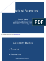 Observational Parameters by Santosh Takale at MU-Basic (04-11-12)