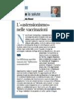Riccardo Renzi - L'Astensionismo Nella Salute - Corriere Salute
