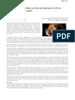 Dúvidas na hora de declarar o IR - comoinvestir.com.br