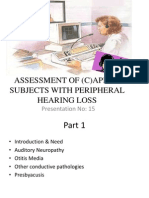 Assessment of (C)APD- Hearing Impaired