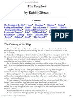 The PROPHET, By Kahlil Gibran