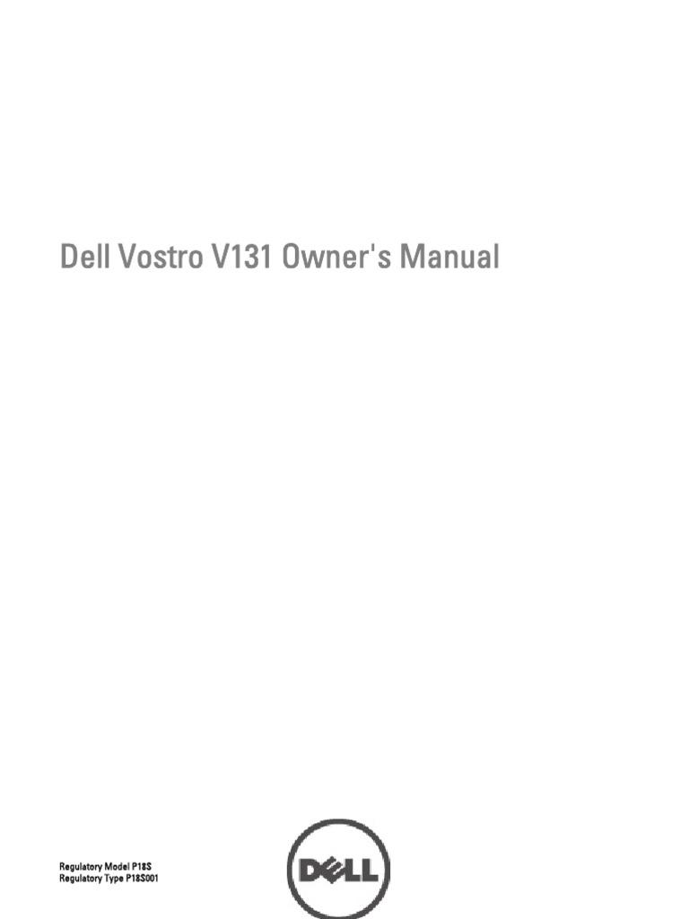 dell vostro v131 owner s manual secure digital bios rh scribd com dell vostro v131 service manual pdf Support Dell Vostro V1.3.1