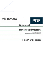 Manual Toyota Land Cruizer Machito