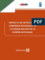 Proyecto de Apoyo a Los Gobiernos Regionales en La Formacion de La Mineria Artesanal