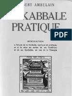La Kabbale Pratique - Robert Ambelain