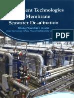 Pretreatment Technologies for Membran Seawater Desalination, Nikolay Voutchkov