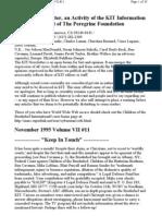 KIT November 1995, Vol VII #11 New 11-3-95