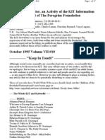 KIT October 1995, Vol VII #10 New 10-8-95