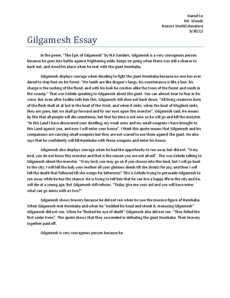 gilgamesh essay buy