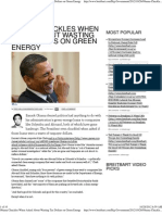 Obama Chuckles When Asked About Wasting Tax Dollars on Green En