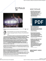 Poll Romney Pulls Ahead in New Hampshire