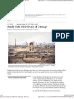 Superstorm Sandy Cuts Wide Swath of Damage