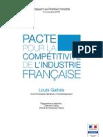 Rapport Louis Gallois - Pacte compétitivité - 05112012