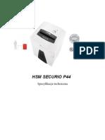 Niszczarka HSM SECURIO P44 Specyfikacja