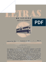 Letras de Sinaloa No. 4 - Septiembre de 1947