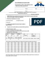 Math3 IB Second Partial Exam Type A