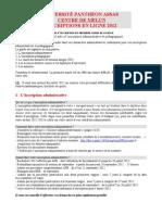 Guide Inscription 2012 L1 2
